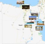 Cities map of Egypt