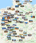 Cities map of Germany