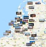 Карта городов Голландии
