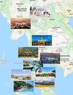 Карта городов Тайланда