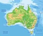 Reliefkarte von Australien