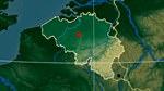 Карта рельефа Бельгии