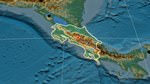 Relief map of Costa Rica