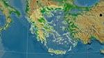 Reliefkarte von Griechenland