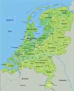 Карта рельефа Голландии