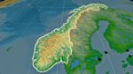 Relief map of Norway