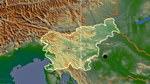 Reliefkarte von Slowenien