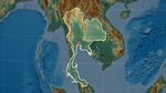 Relief map of Thailand