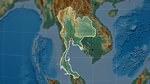 Карта рельефа Тайланда