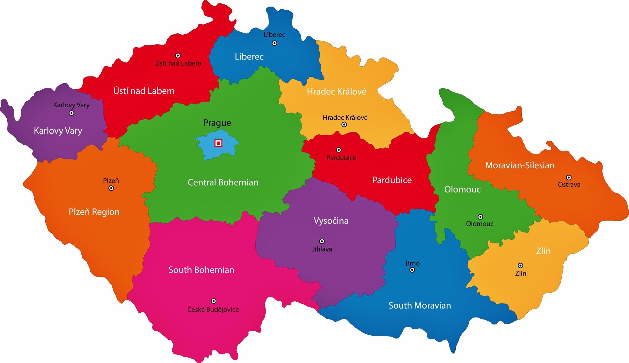 провинции чехии