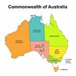 Karte der Regionen in Australien