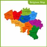 Карта регионов Бельгии