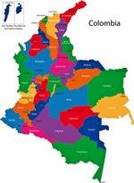 Карта регионов Колумбии