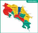 Karte der Regionen in Costa Rica
