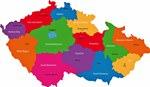 Map of regions in Czech Republic