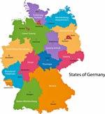 Karte der Regionen in Deutschland