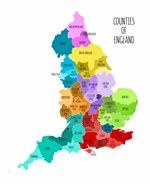 Mapa de regiones de Gran Bretaña