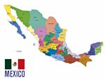 Map of regions in Mexico