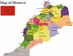 Map of regions in Morocco