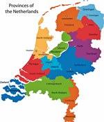 Карта регионов Голландии