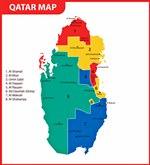Map of regions in Qatar