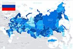 Map of regions in Russia