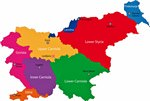 Karte der Regionen in Slowenien