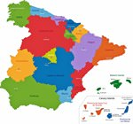 Map of regions in Spain