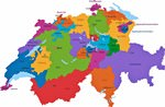 Map of regions in Switzerland