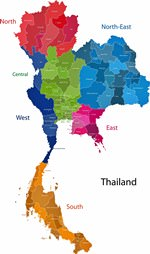 Map of regions in Thailand