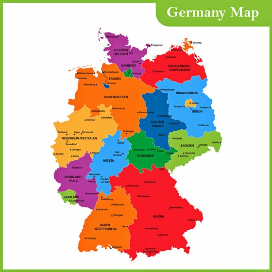 Germany Map Of Regions And Provinces Orangesmile Com