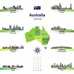Karte der Sehenswürdigkeiten in Australien