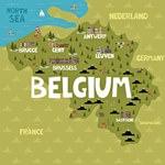 Карта достопримечательностей Бельгии
