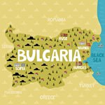 Map of sights in Bulgaria