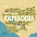 Map of sights in Cambodia