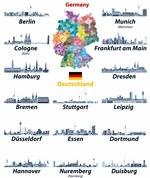 Karte der Sehenswürdigkeiten in Deutschland