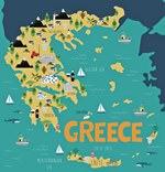 Karte der Sehenswürdigkeiten in Griechenland