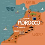 Map of sights in Morocco