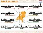 Карта достопримечательностей Голландии