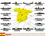 Map of sights in Spain