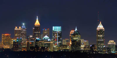Атланта с высоты птичьего полета