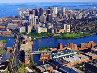 Бостон с высоты птичьего полета