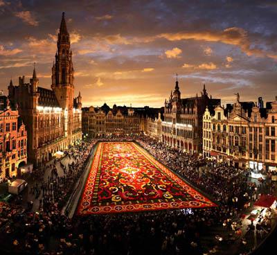 Брюссель с высоты птичьего полета