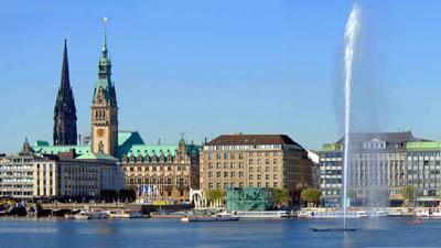 Гамбург с высоты птичьего полета
