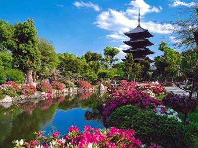 Киото с высоты птичьего полета