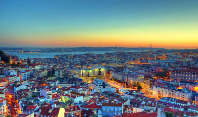 Лиссабон с высоты птичьего полета