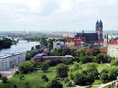 Магдебург с высоты птичьего полета