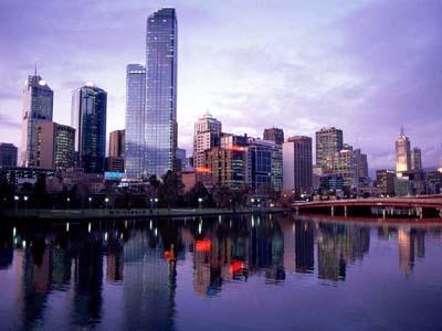Мельбурн с высоты птичьего полета