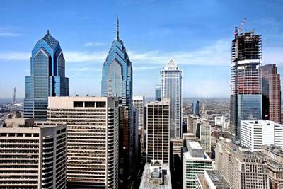 Филадельфия с высоты птичьего полета