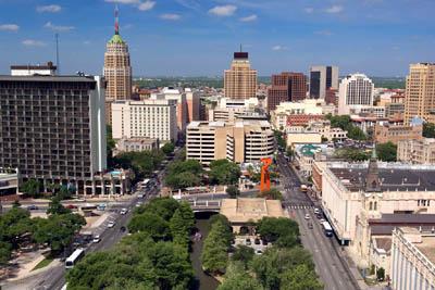 Сан Антонио с высоты птичьего полета